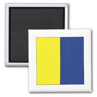Kilo (K) Signal Flag Magnets