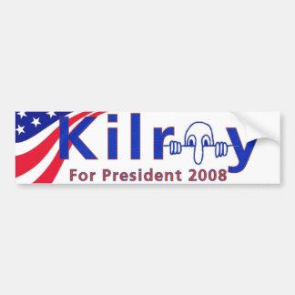 Kilroy 08 bumper sticker