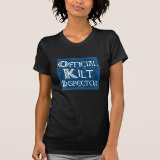 Kilt Inspector - Celtic blue on black T-Shirt