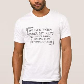 Kilt - Nothing's Worn - White T-Shirt
