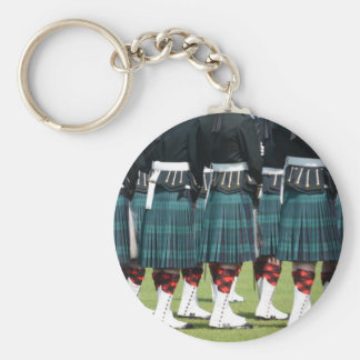 Kilted Men in Edinburgh, Scotland Keychain