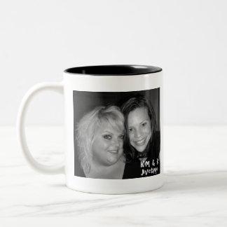 Kim and B in the mornin' Two-Tone Coffee Mug