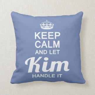 Kim handle it! throw pillow
