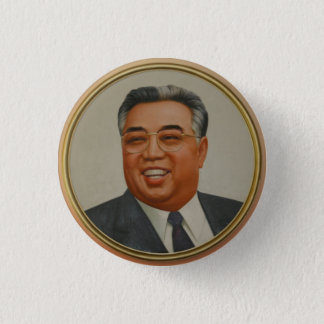 Kim Il Sung 1 Inch Round Button