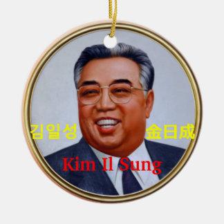 Kim Il Sung #2 Round Ceramic Ornament