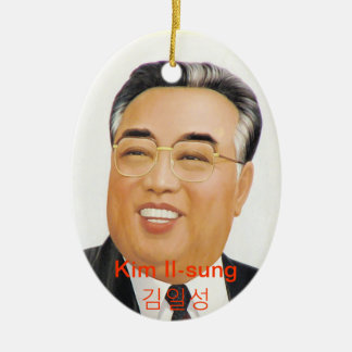 Kim Il Sung Ceramic Oval Ornament
