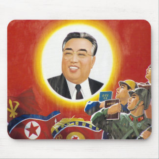 Kim Il-Sung Red mousepad