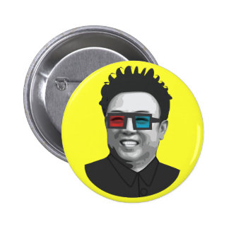 Kim Jong-Il - North Korea 2 Inch Round Button