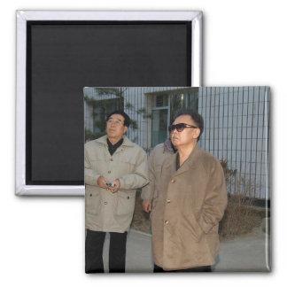 Kim Jong-il, North Korea Square Magnet