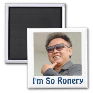 Kim Jong-il Square Magnet