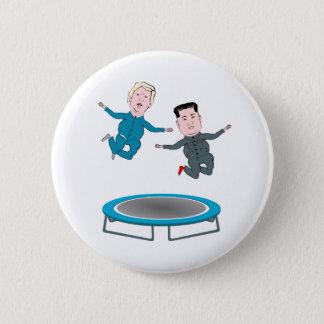 Kim Jong Un and President Trump Trampolone 2 Inch Round Button
