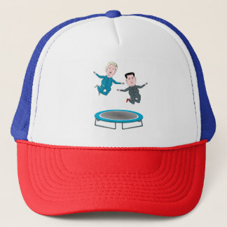 Kim Jong Un and President Trump Trucker Hat