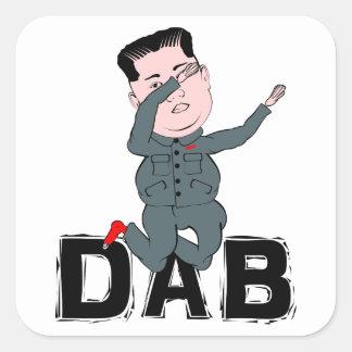 Kim Jong-Un Dabbing Square Sticker