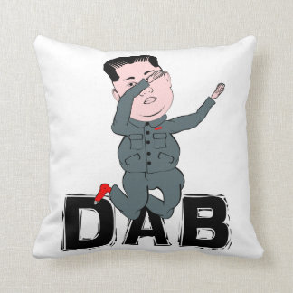 Kim Jong-Un Dabbing Throw Pillow