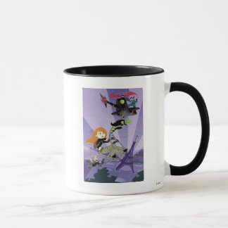 Kim Possible climbing helicopter eiffel tower Mug