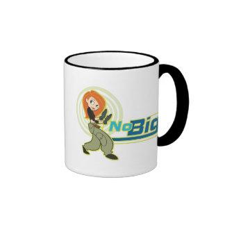 """Kim Possible """"No Big"""" Disney Ringer Coffee Mug"""