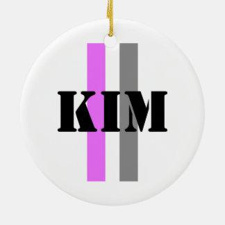 Kim Round Ceramic Ornament