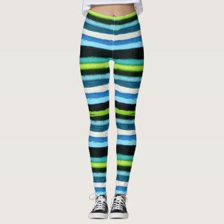 Kim's striped leggings