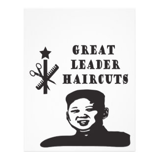 kim un haircut flyer