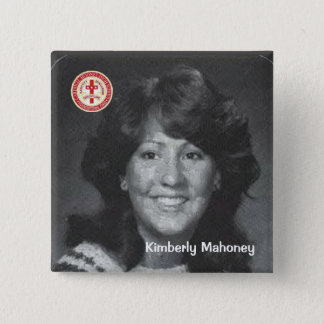 Kimberly Mahoney 2 Inch Square Button