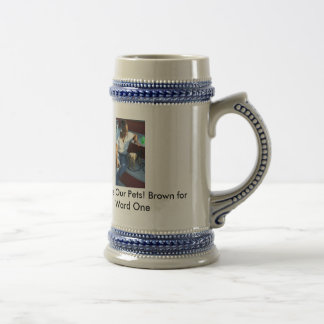 Kimbery F. Brown for WARD ONE Beer Stein