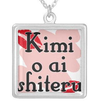 Kimi o ai shiteru - Japanese I love you Silver Plated Necklace
