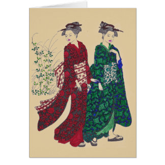 Kimono #1 Greeting Card - Customize