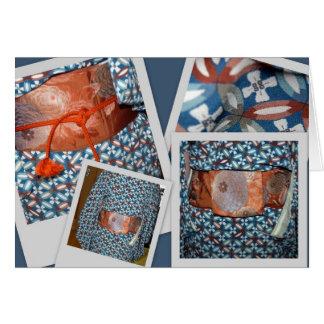 Kimono and obi card