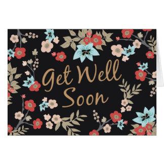 Kimono Print Get Well Soon Card