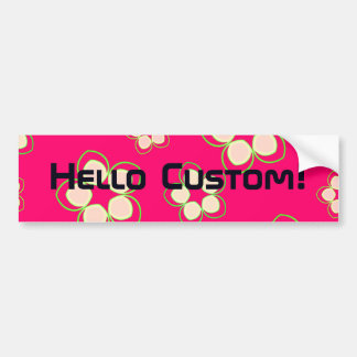 Kimono Rose Pink Lotus Bumper Sticker