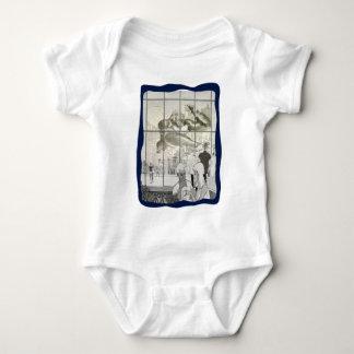 kin kong in aerport baby bodysuit