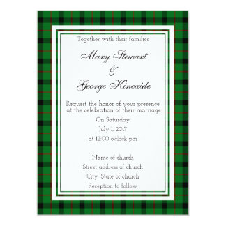 Kincaide Scottish Wedding Invitatio Card