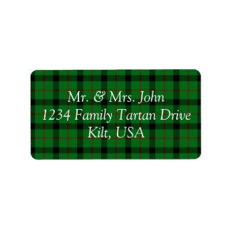 Kincaide Tartan Label