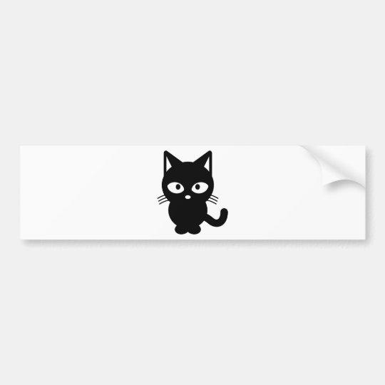 Kind Black Cat Bumper Sticker
