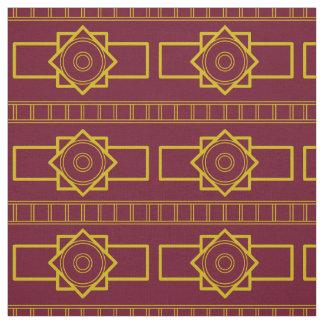 Kind Deco gold Burgunderrot Fabric