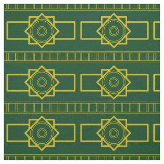 Kind Deco gold-darkgreen Fabric