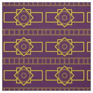 Kind Deco gold eggplant Fabric