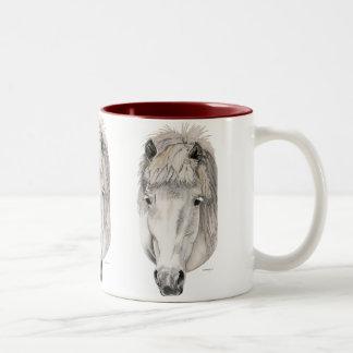 Kind Eyes - Icelandic Horse Two-Tone Coffee Mug
