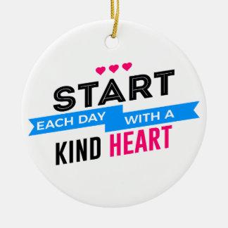 Kind Heart Compassion Humanity Ceramic Ornament
