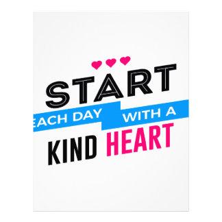 Kind Heart Compassion Humanity Letterhead