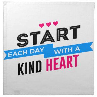 Kind Heart Compassion Humanity Napkin