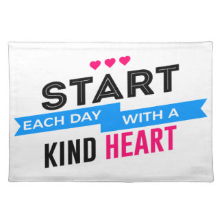 Kind Heart Compassion Humanity Placemat