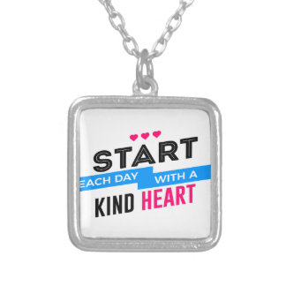 Kind Heart Compassion Humanity Silver Plated Necklace