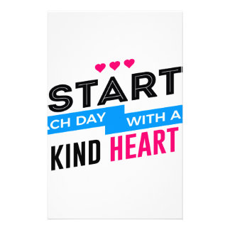 Kind Heart Compassion Humanity Stationery