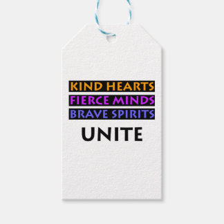 Kind Hearts, Fierce Minds, Brave Spirits Unite Pack Of Gift Tags