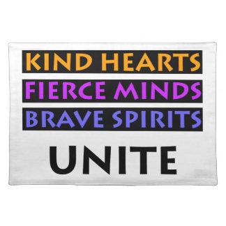 Kind Hearts, Fierce Minds, Brave Spirits Unite Placemat