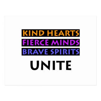 Kind Hearts, Fierce Minds, Brave Spirits Unite Postcard
