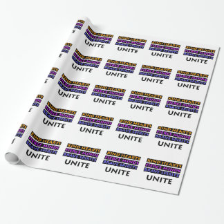 Kind Hearts, Fierce Minds, Brave Spirits Unite Wrapping Paper