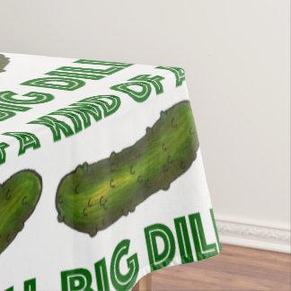 Kind of a Big Dill (Deal) Green Pickle Tablecloth