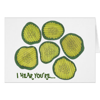 Kind of a Big Dill (Deal) Pickle Chips Congrats Card